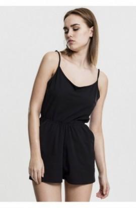Ladies Short Spaghetti Jumpsuit negru XS