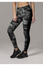Ladies Camo Stripe Leggings camuflaj-negru M