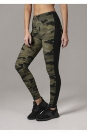 Ladies Camo Stripe Leggings camuflaj-negru L