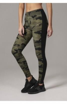 Ladies Camo Stripe Leggings camuflaj-negru S