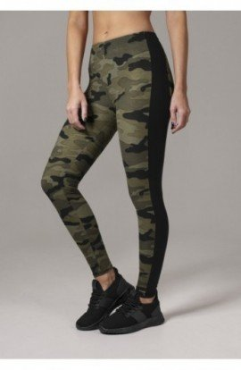 Ladies Camo Stripe Leggings camuflaj-negru XL
