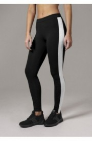 Ladies Retro Leggings negru-alb M