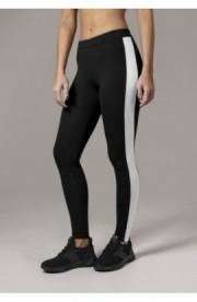 Ladies Retro Leggings negru-alb S