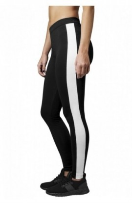 Ladies Retro Leggings negru-alb S
