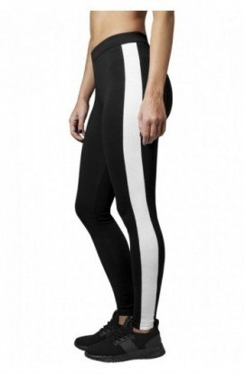 Ladies Retro Leggings negru-alb XS
