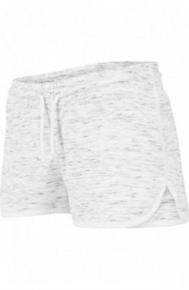 Ladies Space Dye Hotpants alb-negru-alb XL