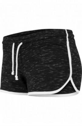 Ladies Space Dye Hotpants negru-alb-alb L