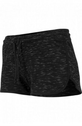 Ladies Space Dye Hotpants negru-alb-negru M