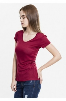 Ladies Basic Viscose Tee rosu burgundy S