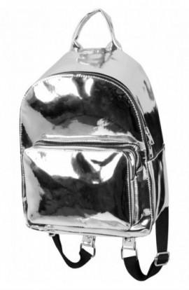 Midi Metallic Backpack argintiu