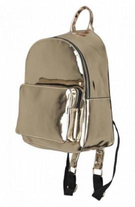 Midi Metallic Backpack auriu
