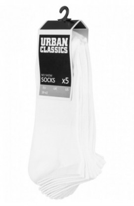 No Show Socks 5-Pack alb 39-42