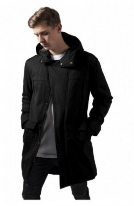 Cotton Peached Canvas Parka negru XL