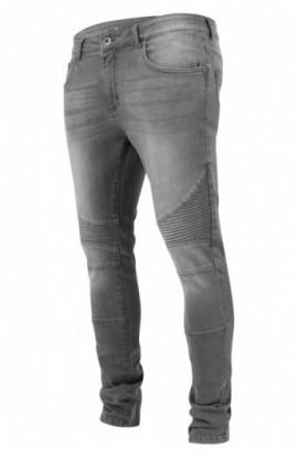 Slim Fit Biker Jeans gri 30