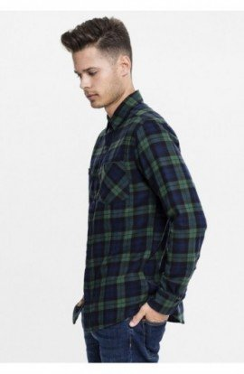 Checked Flanell Shirt 3 verde-bleumarin-negru 2XL