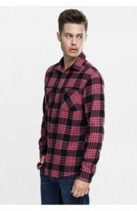 Checked Flanell Shirt 3 negru-gri-rosu XL