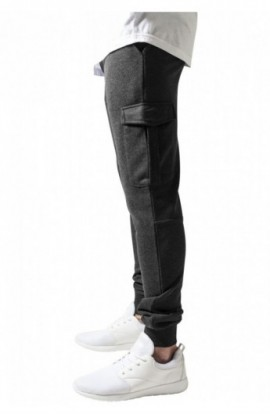 Fitted Cargo Sweatpants gri carbune 2XL