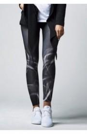 Ladies Smoke Leggings negru-alb XL