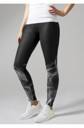 Ladies Smoke Leggings negru-alb XL