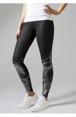 Ladies Smoke Leggings negru-alb XS