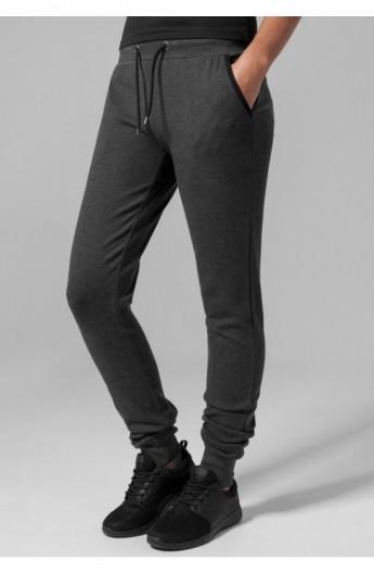 Ladies Fitted Athletic Pants gri carbune XL