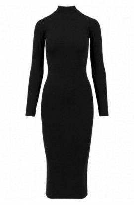 Ladies Turtleneck LS Dress negru L