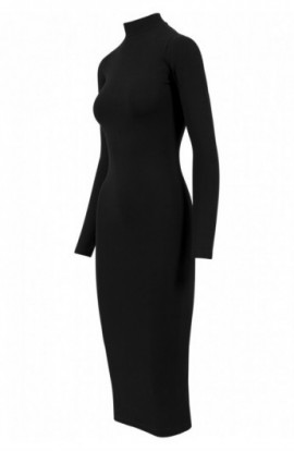 Ladies Turtleneck LS Dress negru L