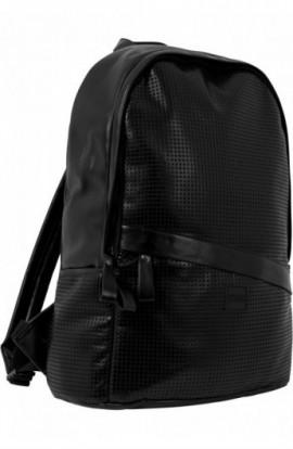 Perforated Leather Imitation Backpack negru