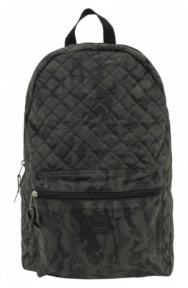 Diamond Quilt Leather Imitation Backpack camuflaj