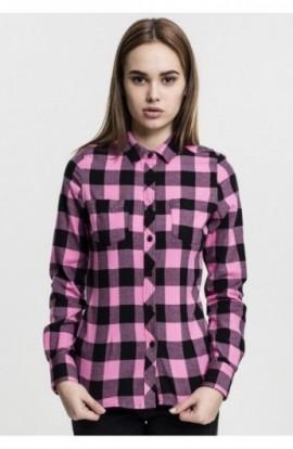 Camasi bumbac urban dama negru-rose M