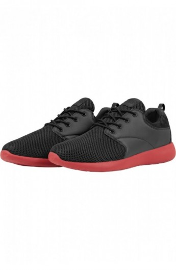 Adidasi Light Runner negru-rosu foc 37