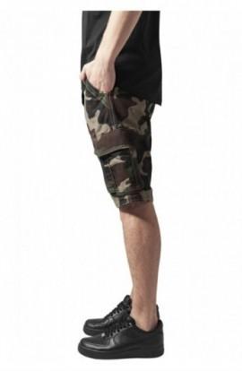 Pantaloni cargo scurti wood-camuflaj 36