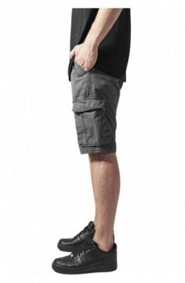 Pantaloni cargo scurti gri inchis 32