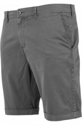 Stretch Turnup Chino Shorts gri inchis 32