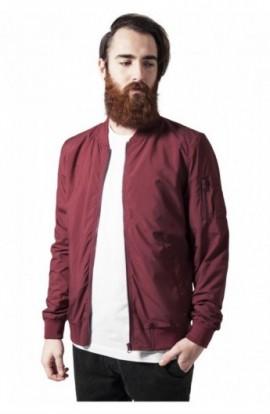 Geaca bomber subtire barbati rosu burgundy XL