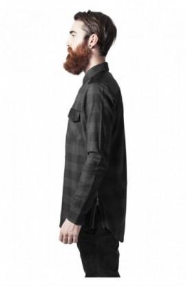 Camasi urban insertii piele negru-gri carbune S