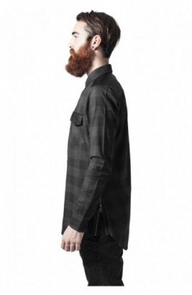 Camasi urban insertii piele negru-gri carbune XL