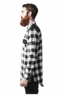 Camasi urban insertii piele negru-alb M