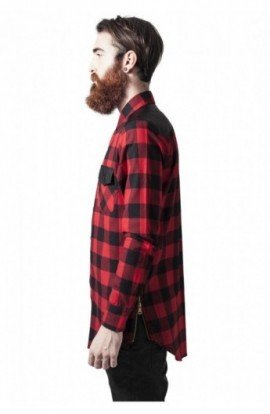 Camasi urban insertii piele negru-rosu L