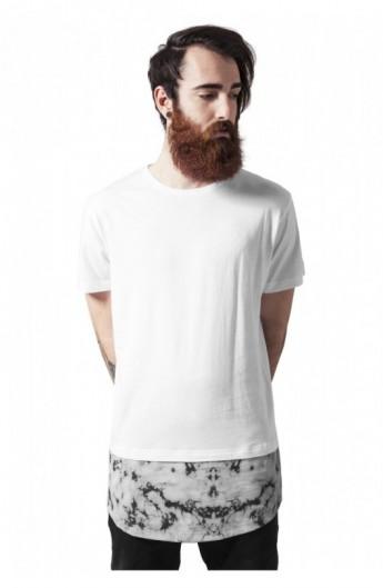Tricouri barbati fashion marble alb L