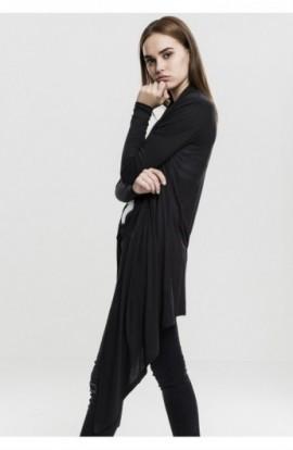 Cardigan dama lung simplu negru L