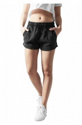 Pantaloni scurti femei fitness gri inchis M