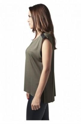 Tricouri fashion cu fermoar la umar oliv M