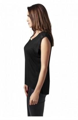 Tricouri fashion cu fermoar la umar negru M