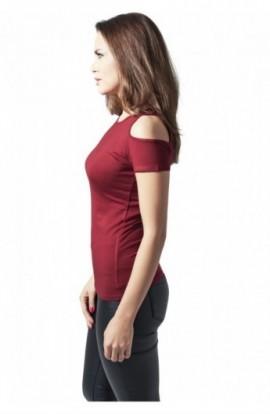 Tricouri cu umerii goi femei rosu burgundy XL