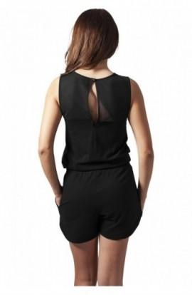 Salopete fashion scurte negru L