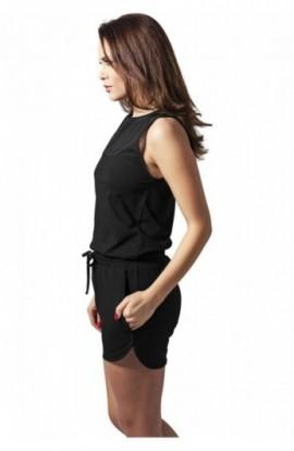 Salopete fashion scurte negru XL