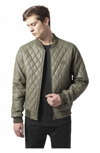 Geaca casual quilt oliv S