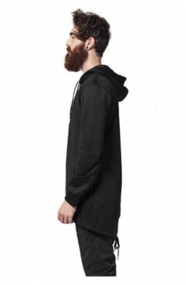 Hanorac fashion cu fermoar negru M