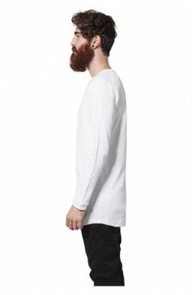 Bluze cu maneca lunga waffle alb L